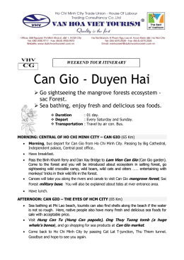 VHV CG Can Gio - Duyen Hai Go sightseeing the mangrove forests
