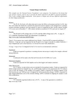 Budget justification for dissertation