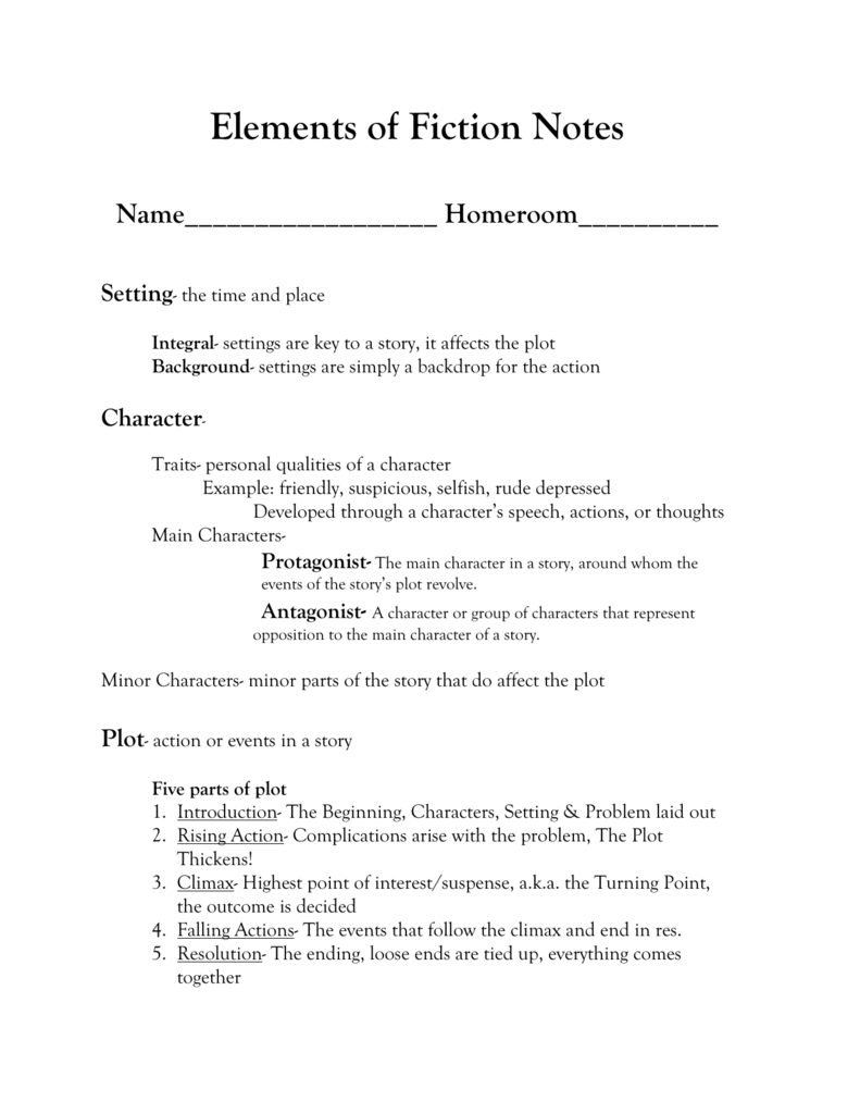 Elements_of_Fiction_Notes