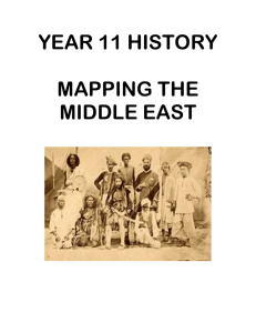 Mapping the evolution of the Modern Middle East