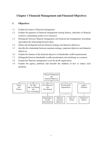 Chapter 1 Financial Management and Financial Objectives