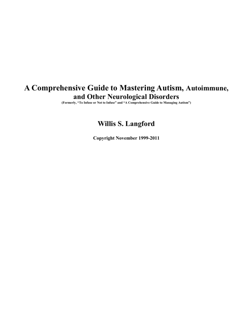A Comprehensive Guide to Mastering Autism