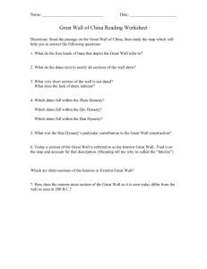 Great Wall of China Reading Worksheet - TEP-546-Ancient