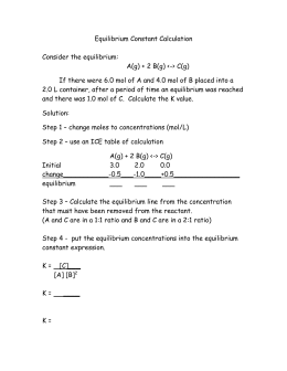 Worksheet Chemical Equilibrium Worksheets for all | Download and ...