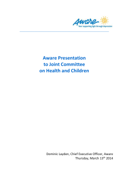 Aware Presentation to Joint Committee on Health and Children
