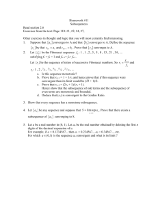 HW #11 - Subsequences