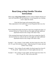 Basal (long acting) Insulin Titration Instructions