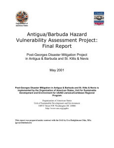 Antigua/Barbuda Hazard Vulnerability Assessment