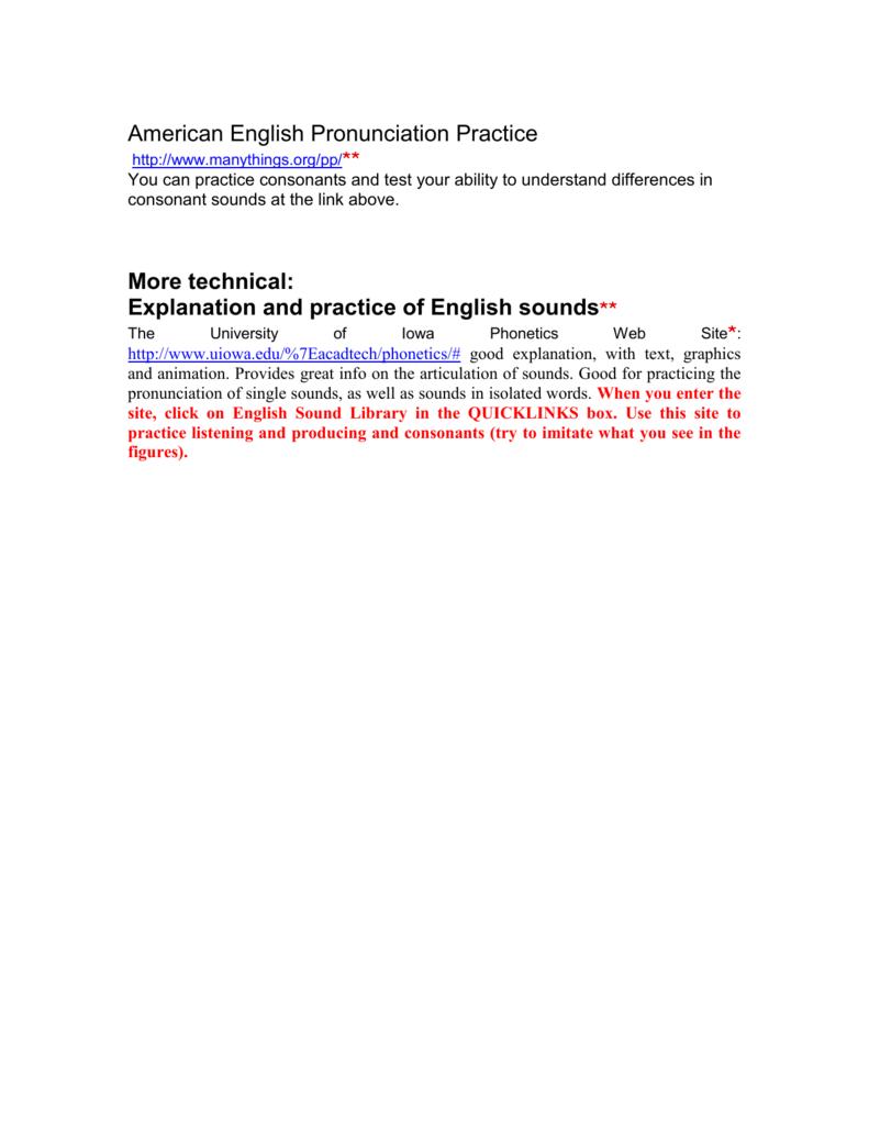 Why study pronunciation