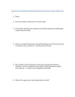 Questionnaire for prospective employees