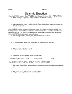 Seismic Eruption