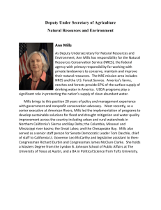 Ann Mills, USDA Deputy Under Secretary for Natural Resources and