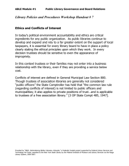 07 Ethics Statement - Conflict of Interest