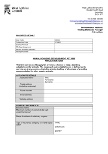 cat boarding application form