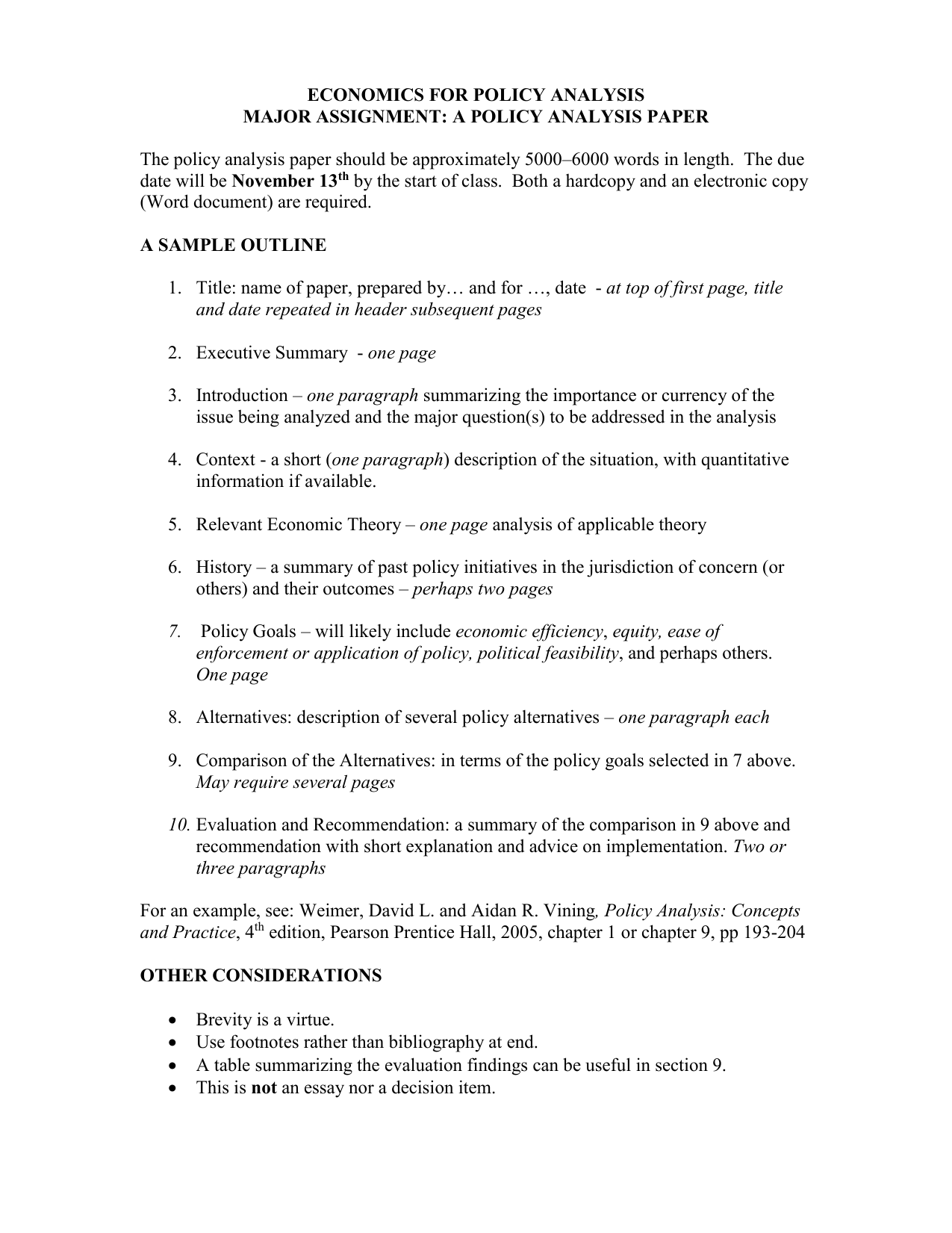 policy issue analysis paper