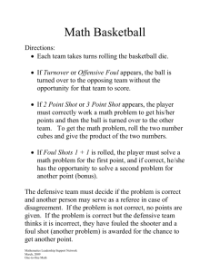 Math Basketball Directions