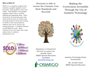 Making the Curriculum Accessible Through the Use of Assistive