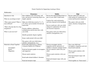 Parent Checklist for Supporting Math Learning at Home