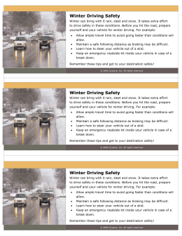 Winter Driving Safety Payroll Stuffer