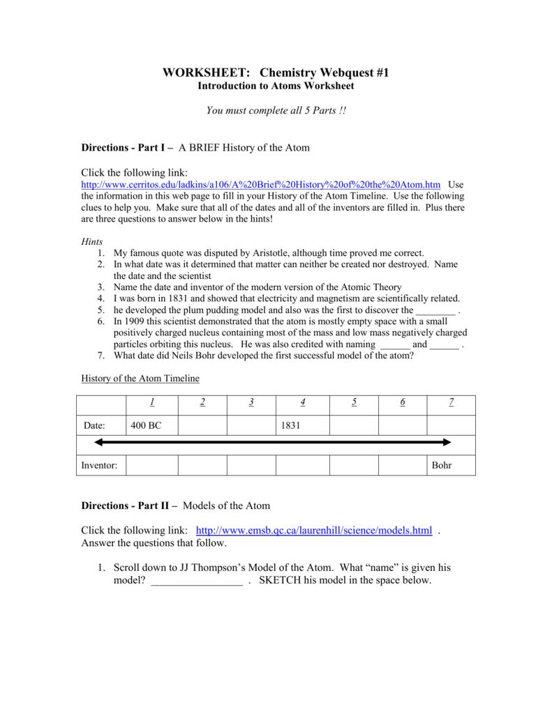build an atom worksheet answer key