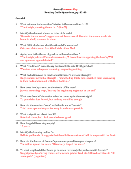 Beowulf Questions (pp. 42