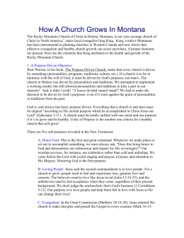 How a Church Grows In Montana - the Rocky Mountain Christian