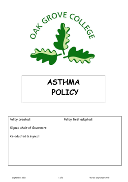 Asthma Policy