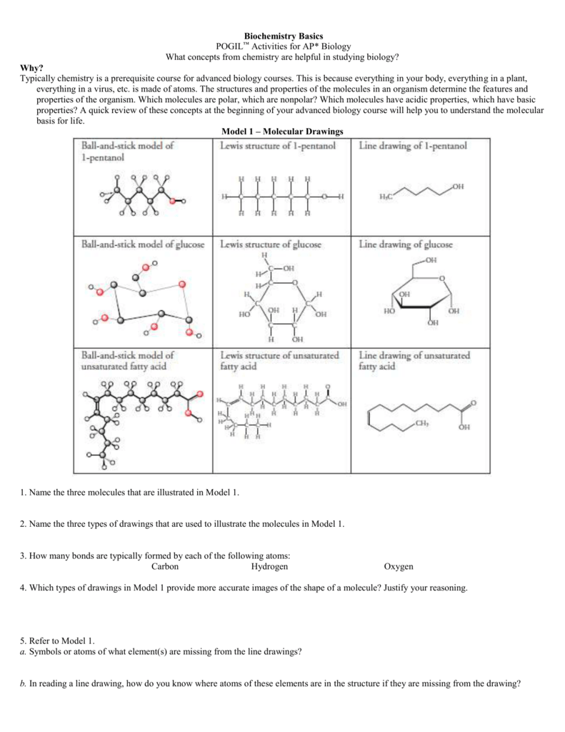 Worksheets Drawing Atoms Worksheet biochemistry basics activities for ap biology what