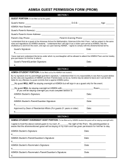 Prom - Guest Permission Form
