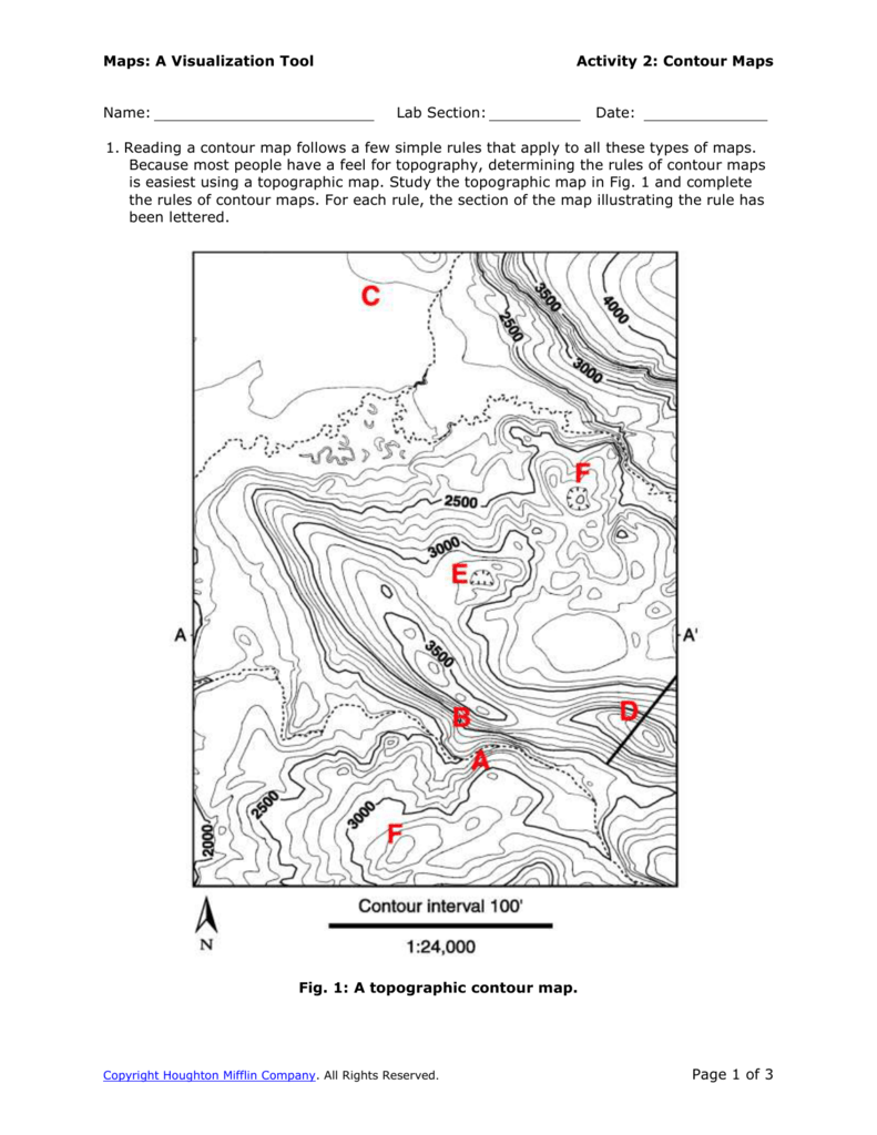 How To Read A Topographic Map Lake Bonneville Map