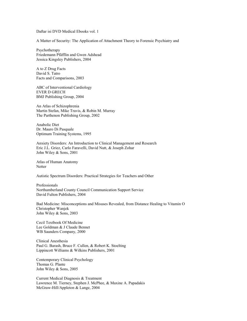 Daftar isi dvd medical ebooks vol fandeluxe Gallery