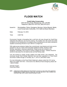 FLOOD WATCH Credit Valley Conservation 1255 Old Derry Road