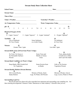 Stream Study Data Collection Sheet