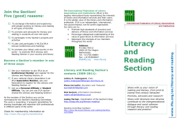 Literacy and Reading Section Brochure