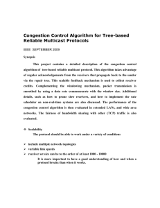 Congestion Control Algorithm for Tree-based