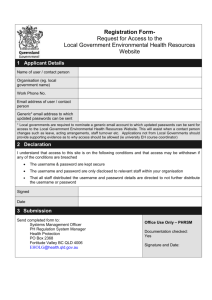 Registration Form - Request for Access to the Local Government