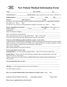 New Patient Form - Rutland Skin Center