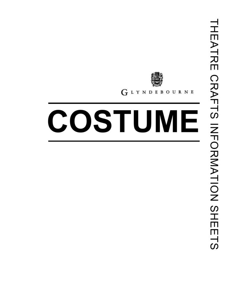 Costume Careers In Costume The Costume Designer Is