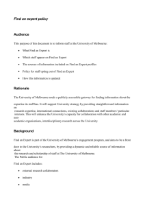 Find an Expert Policy - WordPress at The University of Melbourne