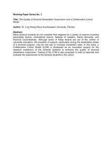 The Quality of Doctoral Dissertation Supervision and a Collaborative