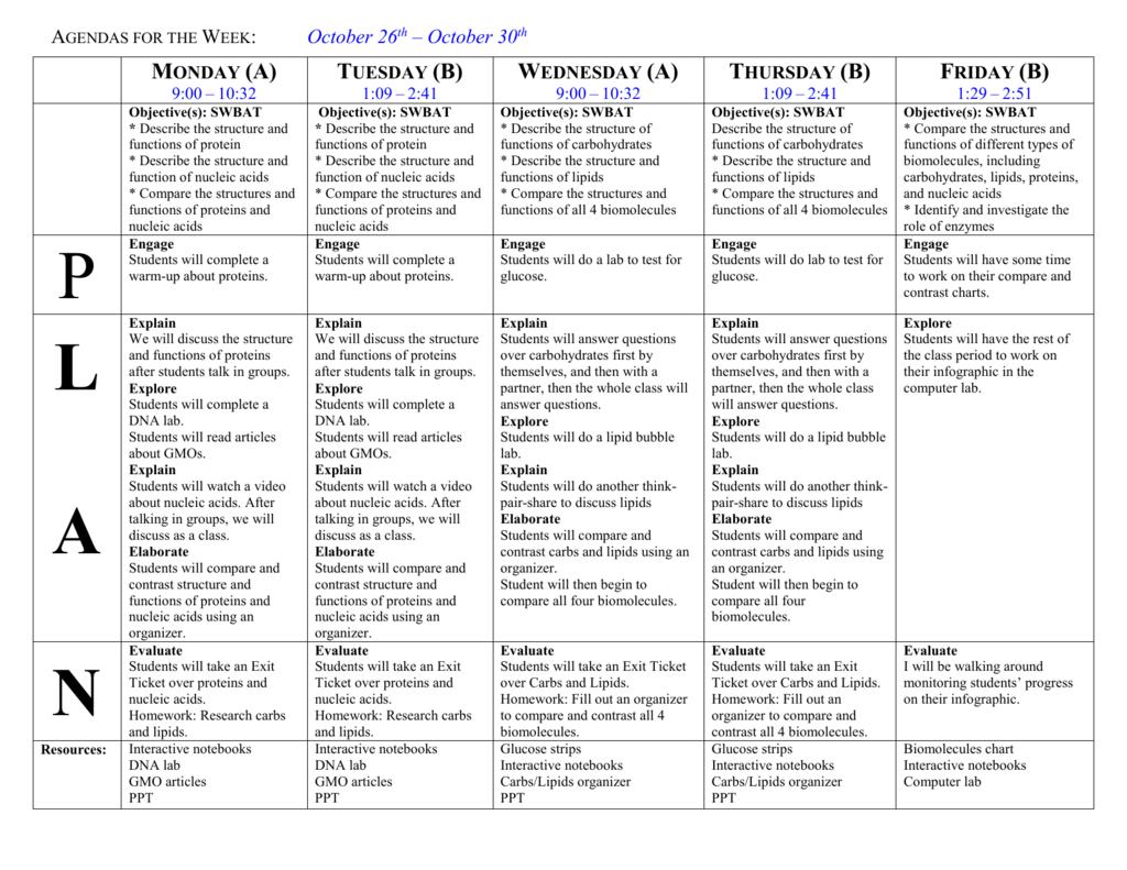 Week Of October 26 2015