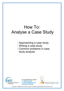 How to analyse a Case Study - Glasgow Caledonian University