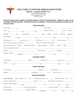 online patient health history form submit your health history form