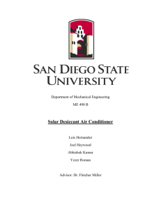 Project Report - Solar Energy at SDSU
