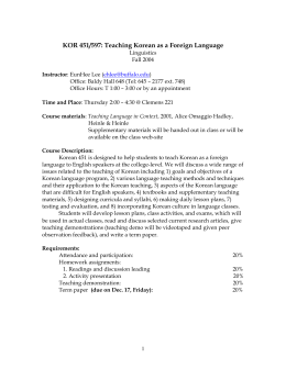 Syllabus - Department of Linguistics :: University at Buffalo