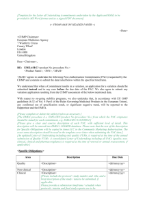 [Template for the Letter of Undertaking (commitments undertaken by