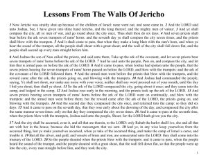 Walls of Jericho - Lessons From