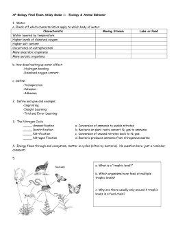 AP Biology Final Exam Study Guide 1: Ecology & Animal Behavior