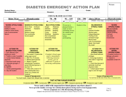 State Form for Diabetes Emergency Action Plan