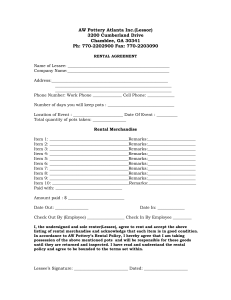 AW Pottery Rental Forms